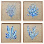 Sea Blue Coral & Seaweed 4pc