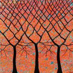 Trees – Sunset Outback Australia textured abstract – SOLD
