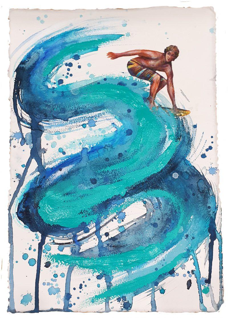 Sydney Artist Leni Kae Little Journeys Surf On Surfing Art Ocean Art
