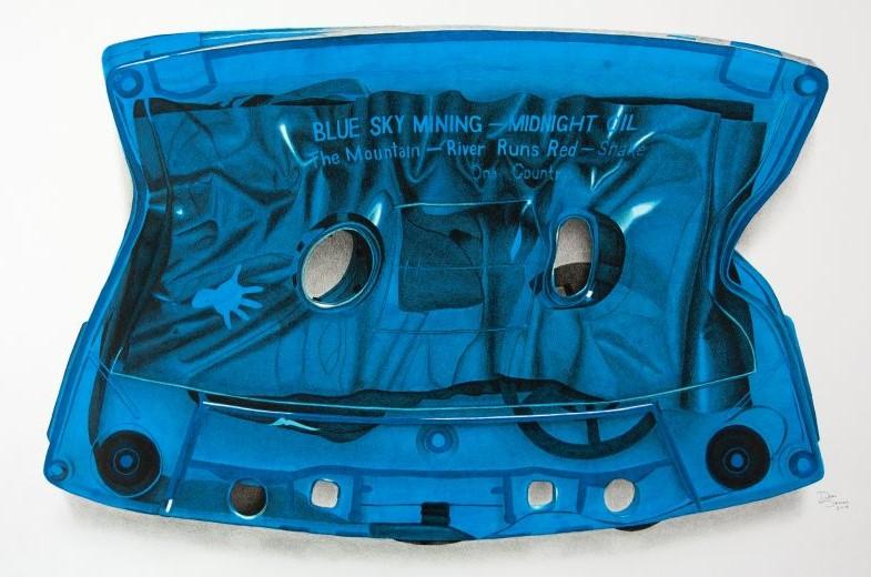 2019 Blue Sky Mining Cassette04 Pop Art Wall Art Australia