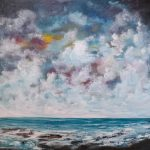 Skyward gazing- Textured abstract landscape