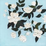 White Magnolias Ltd Edn Print