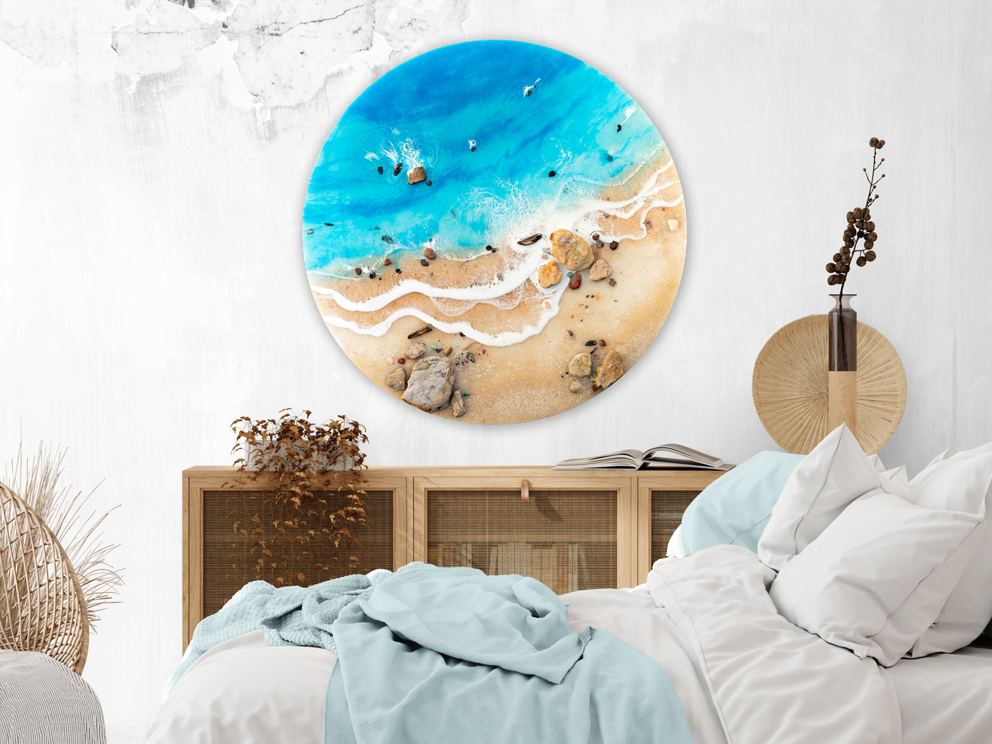 Australian Beach Resin Art Coastal Painting Chasing Blue By Michelle Tracey