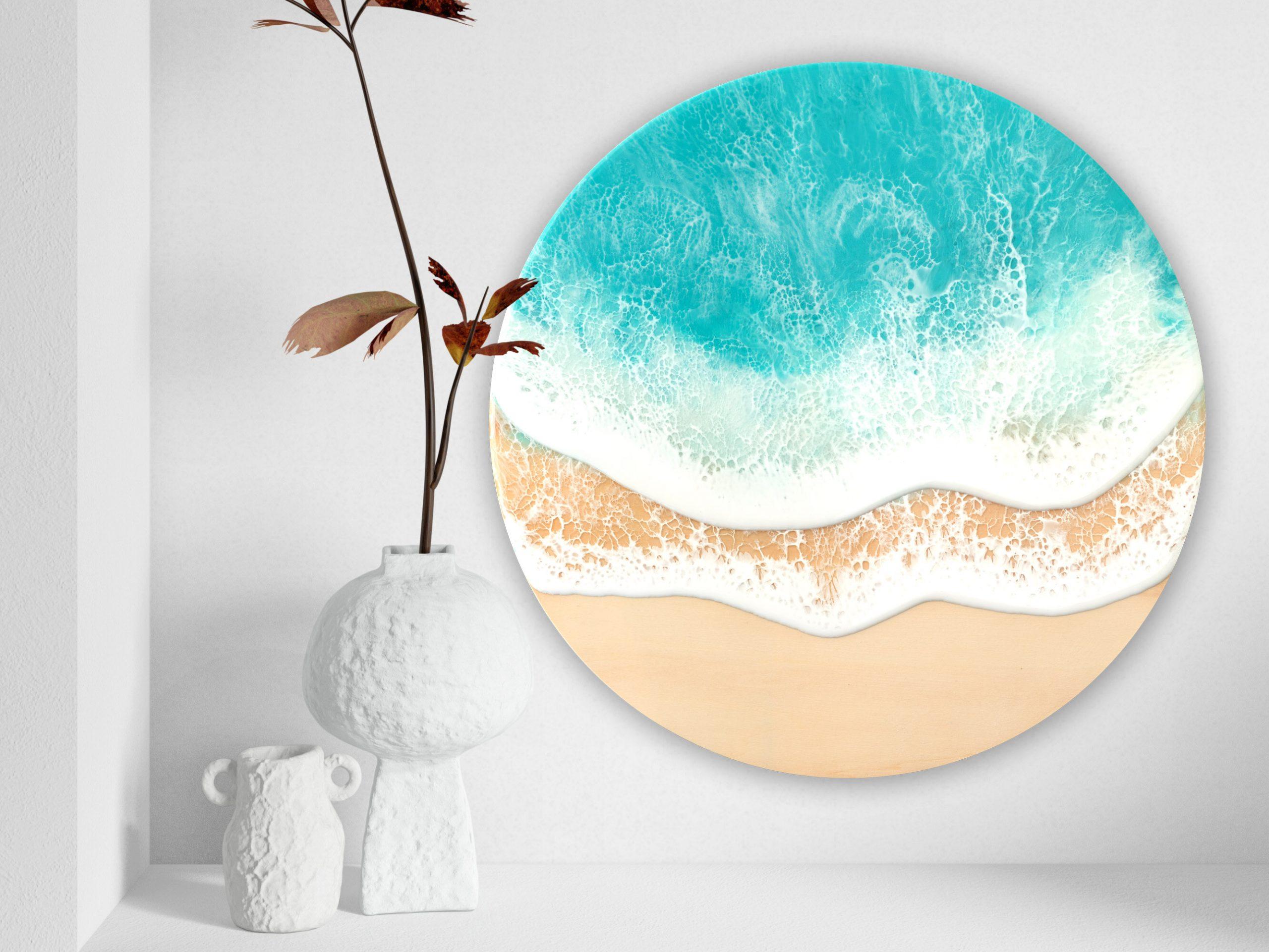 Australian Beach Wave Art Resin Art Finding Bliss By Michelle Tracey