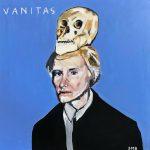 Warhol with skull