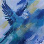 Budgie Blue 1 – Australian Bird Series Exclusive to Art Lovers