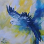 Budgie Blue 2 – Australian Bird Series Exclusive to Art Lovers
