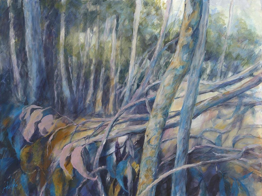 Deb Parker 004 Fallen Leaves, Mt Coot Tha Web