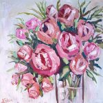 Abstract Creamy Roses
