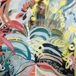 Fancy Free – Colourful Palm Tree Painting