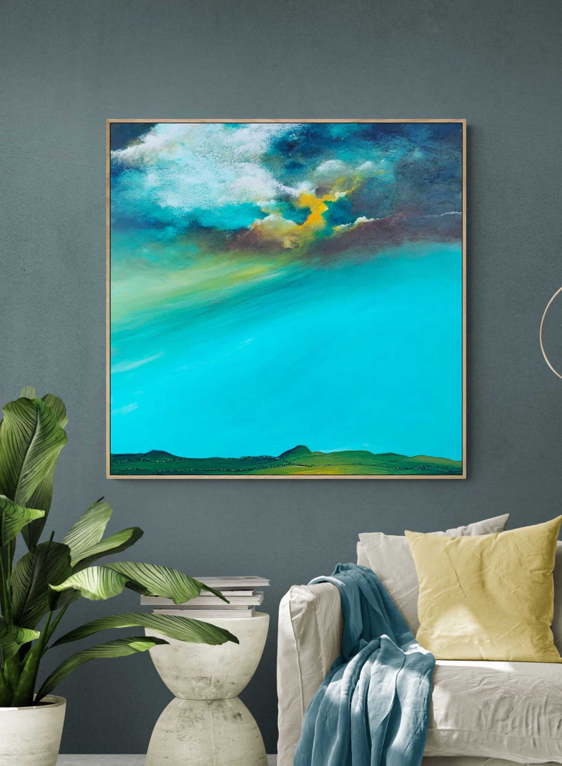 Fields Of Gold Tania Chanter Clouds Abstract Landscape Large2
