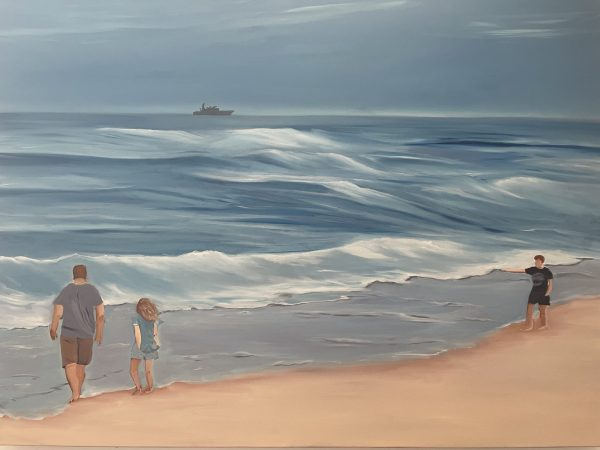 Hoverlay Image Alanah Jarvis Ocean Painting Commissioned Family On Beach