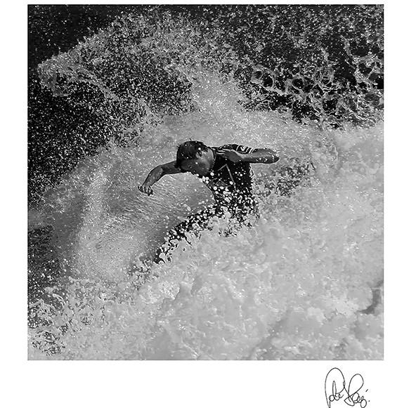 Pj 200.surfer.75x75cm Surfing Wall Art