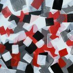 Red, Black and White Abstract