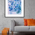 Blue flower chinoiseries