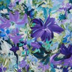 Springtime Bliss – Purple abstract floral
