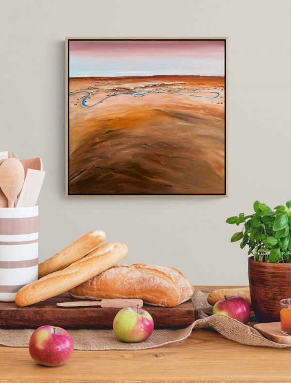 Tania Chanter West Of The Dry Banks Framed Landscape Art
