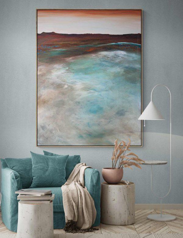 The Peaceful Shores Tania Chanter Abstract Landscape Beachhouse3