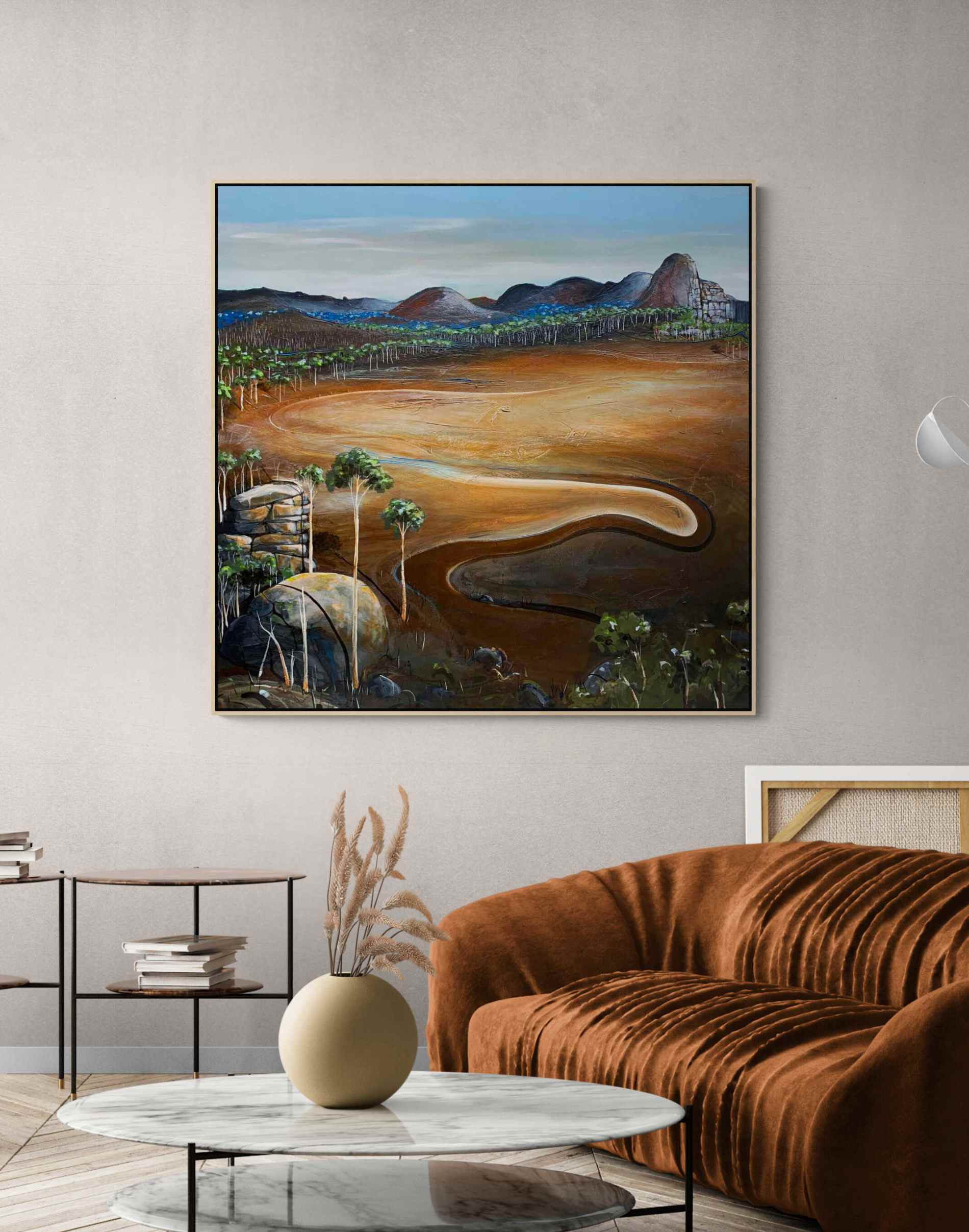 Under A Spring Sky Tania Chanter Abstract Landscape Australiana3