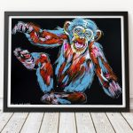 Chuckles, the Chimp Thought that was Very Funny Ltd Ed Giclee Print