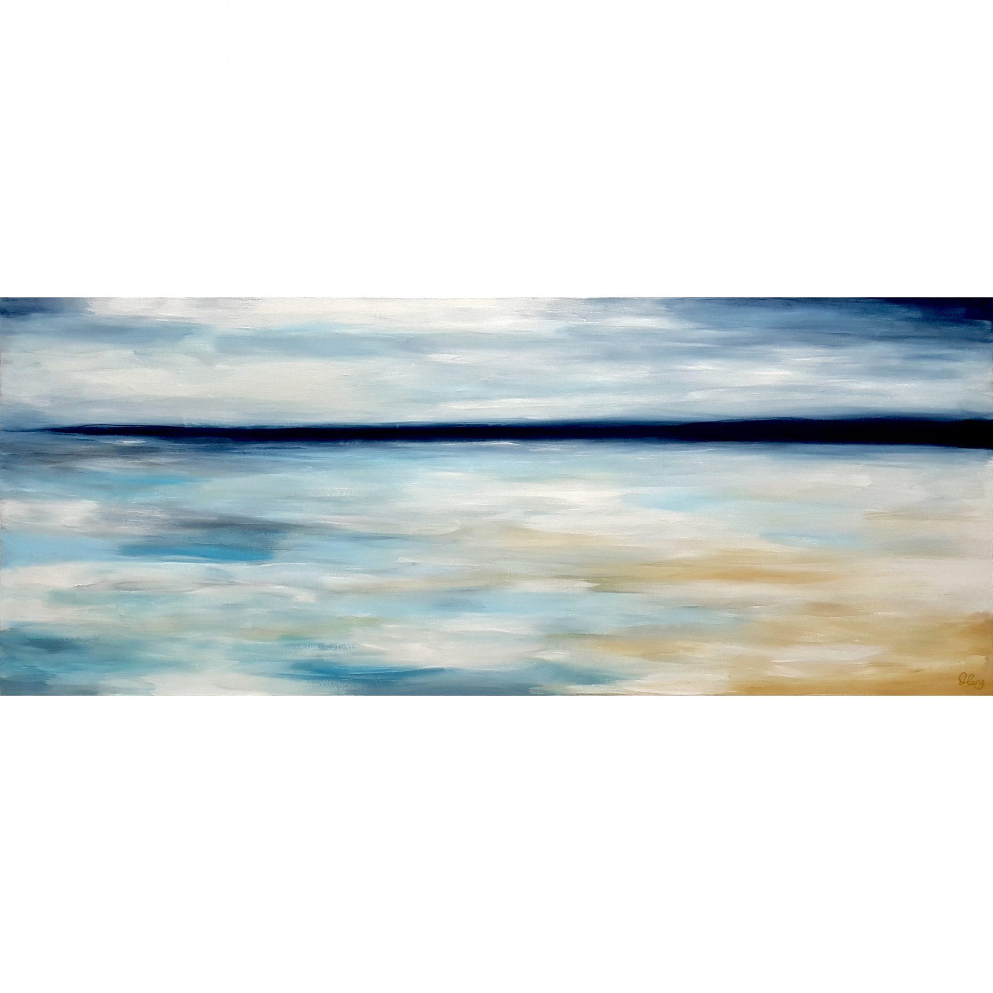 Calm Before The Storm Songbird Designz Deborah Lang Beachscene Canvas Coastal Hamptons Style 7