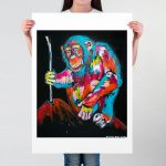 The Chimp Could do Everything we can do and More Ltd Ed Giclee Print