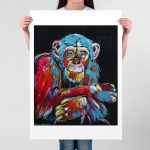 Max, the Chimp had Something he Wanted to Tell You Ltd Ed Giclee Print