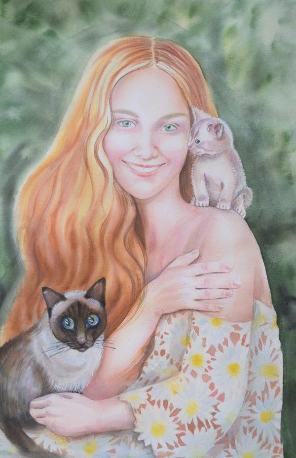 Portrait Cat Lover 2 38x56