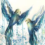 Budgie Love, in Blue and Yellow