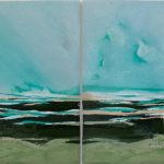 When River meets the Ocean – diptych