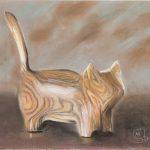 Cat in Wood