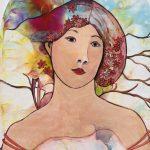 Feminine – inspired by Alphonse Mucha