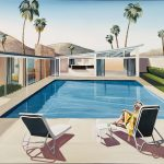 Palm Springs – Relaxing By The Pool – Framed