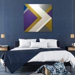 Geometric Shapes in metallic paint