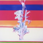 One tree with stripes – modern painting wall decor