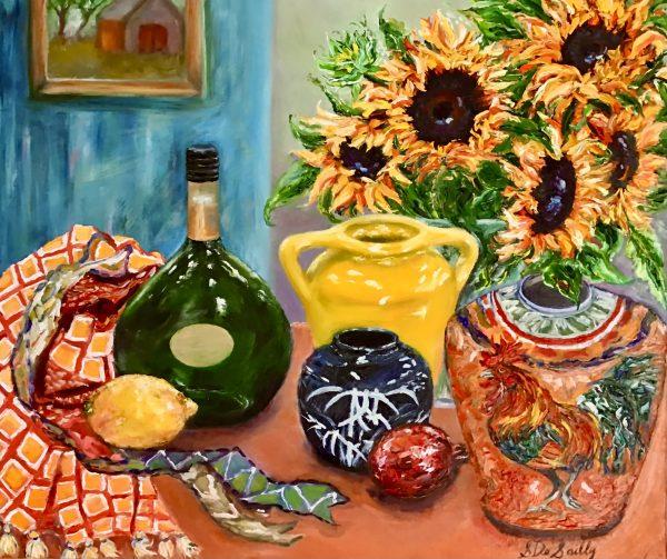 Sunny Interior 60 X 50 Oil
