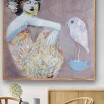 Bird on my Teacup Ltd Ed Print Canvas and Paper