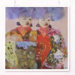 Makiko and Mai Ltd Ed Print Canvas and Paper