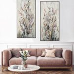 Blush and Gold Wild Diptych