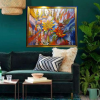 Capan Virtual Waratah Dotty Gold Frame Green
